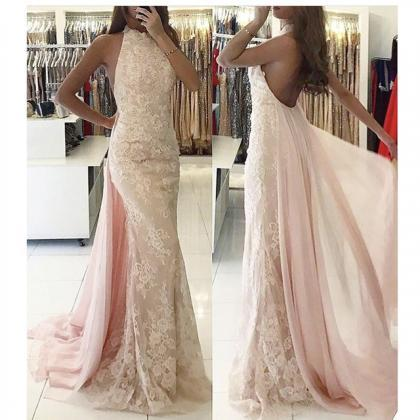 Mermaid Evening Dress, Backless Eve..