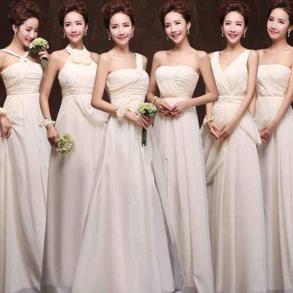 Six Style Long Chiffon Bridesmaid D..
