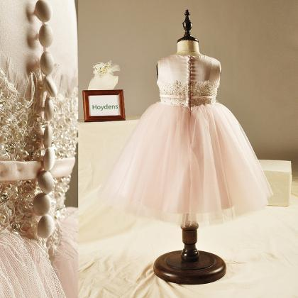 The New Pink Princess Dress Childre..