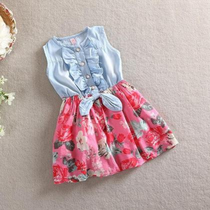 2016 Girls Summer Dress Korean Chil..