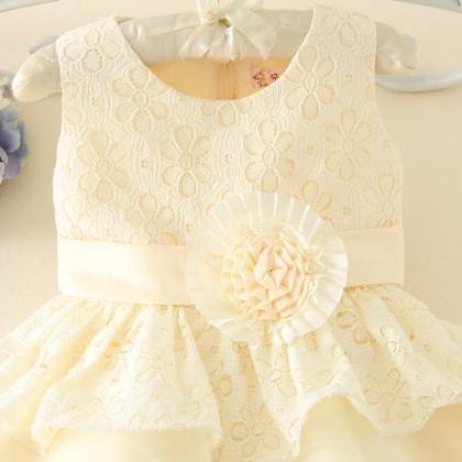 Girls Dress Embroidered Vest Dress ..