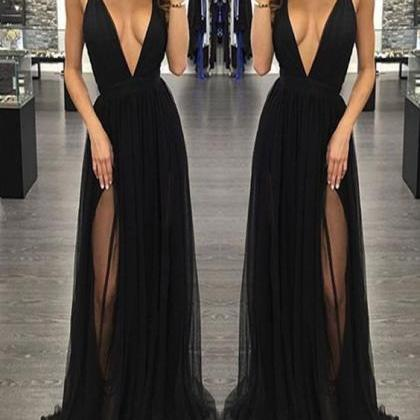 Sexy Prom Dress,Sleeveless Black Pr..