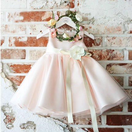 Flower Girl Dress Pink Flower Girl Dress Light Pink Bridesmaid