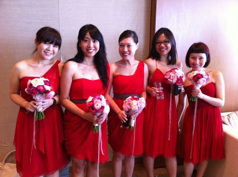 Red Bridemaid Dress