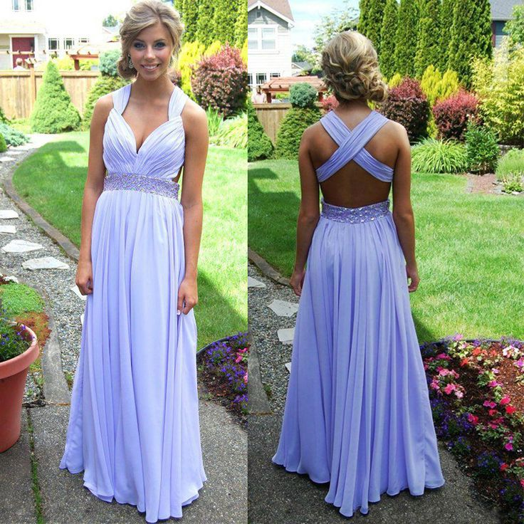 2016 Custom Had A Back Light Purple Dress Floor Length 65c2a01747