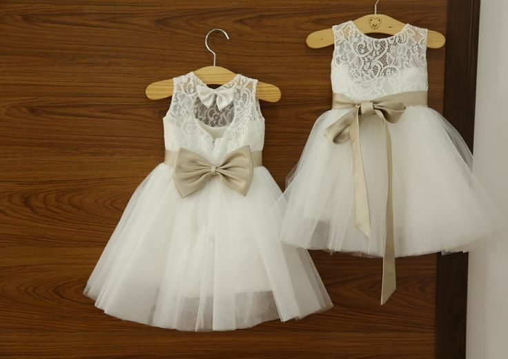 2015 Vintage Lace Flower Girls\' Dresses Princess A-Line High Neck ...
