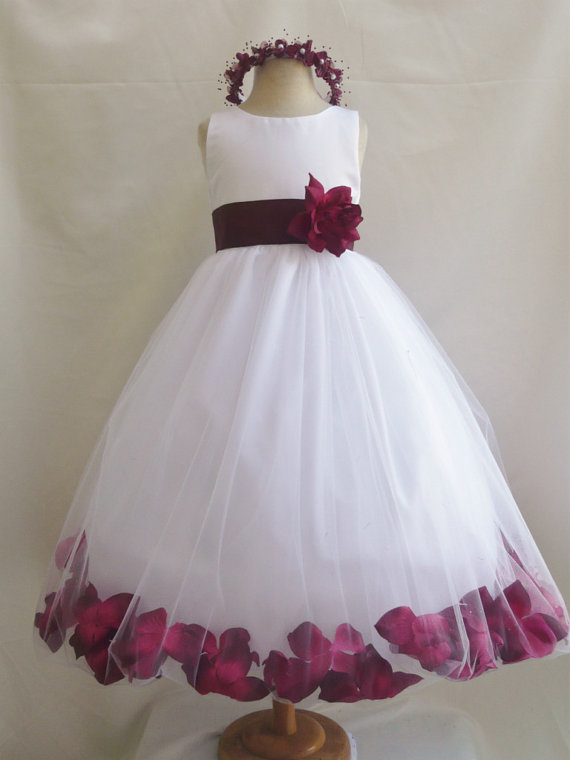 a108e8266 Custom Made Red Sleeveless Tulle Ball Gown Bubble Dress with Floral Decor, Evening  Dress, Kids Clothing, Party Frock, Flower Girl Dresses, ...