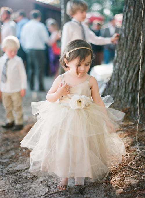 2015 Rustic Ivory Flower Girls Dress Forest Girl Dress Wedding ...