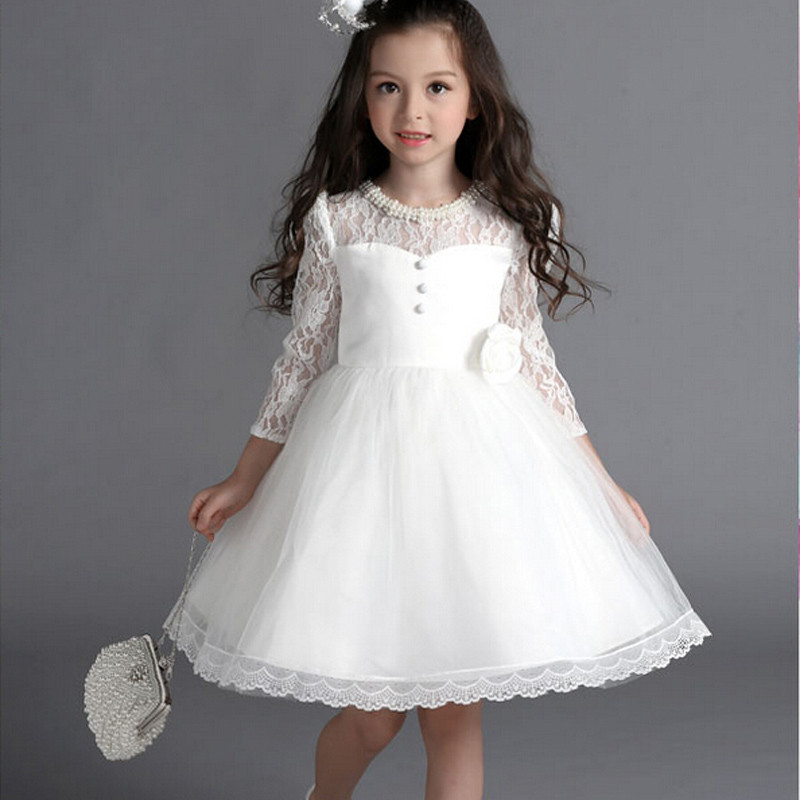 634a04235 2016 New Flower Girl Dresses With Bow Sleeve Wedding Party Communion ...