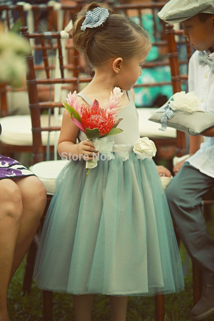 Flower Girl Dress For Wedding Mint Color Dresses Of Girl For ...