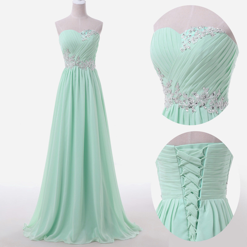 Strapless Long Evening Dresses with Appliques 2016 New Arrival Formal Dresses Party Gowns Vestido De Festa