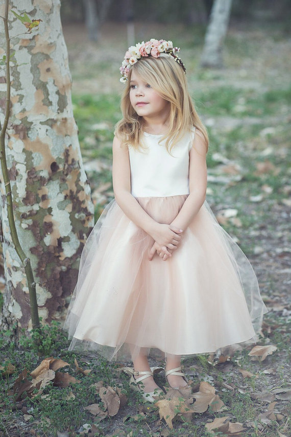 Satin And Tulle Flower Girl Dress Hot Sales Pageant Dresses For ...