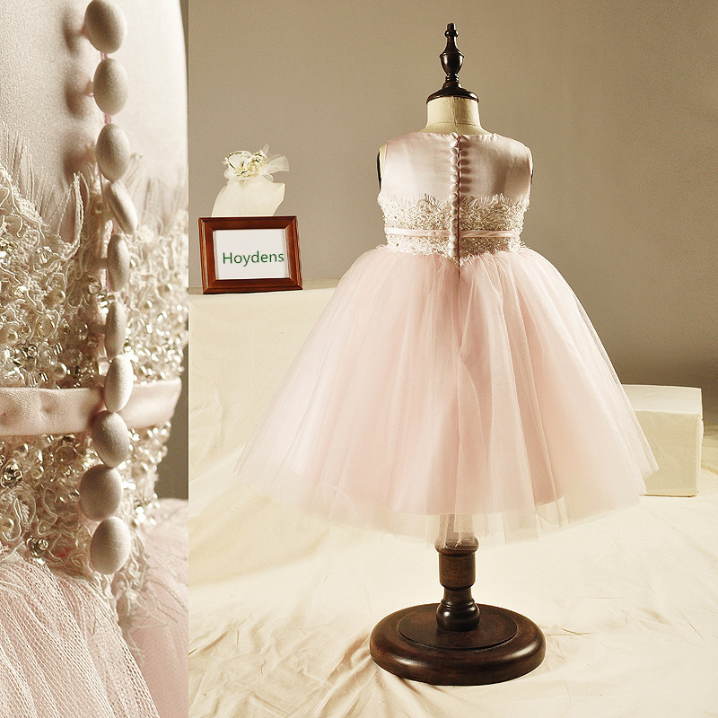 The New Pink Princess Dress Children Dress Skirt Wedding Dress High-end Custom Flower Girls TuTu