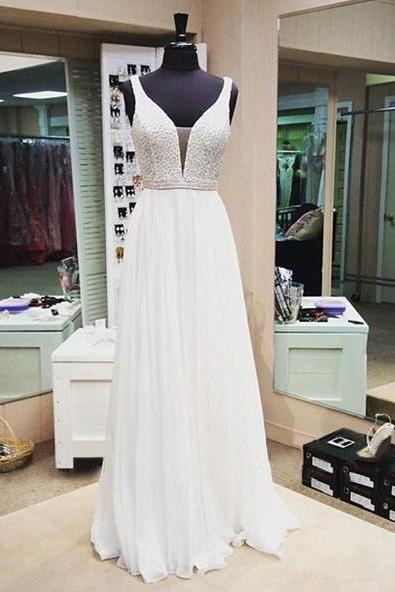Long prom dress, white prom dress, off shoulder prom dress, elegant prom dress, beautiful prom dress, charming prom dress, evening dress