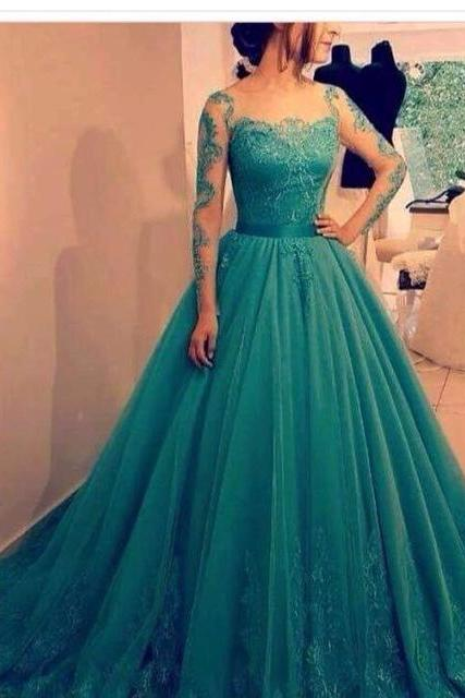 Evening Dress Store-Sexy Prom Dress,Formal Evening Dress,Long Evening Dress,Long Prom Dresses,Ball Gown Prom Dress,Elegant Appliques Quinceanera Dresses