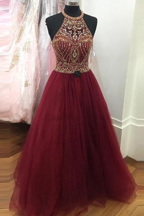 Evening Dress Store-Burgundy Formal Dresses,Wine Red Prom Dresses,Formal Gown,Ball Gown Evening Gowns,Modest Party Dress,Prom Gown For Teens