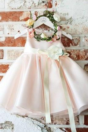 Flower Girl dress, Pink flower girl dress, Light pink bridesmaid dress, Light Pink flower girl dress, Baby girl birthday outfit, Pink floral dress, Pale pink flower girl dress, 2018