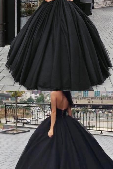 Ball Gown Sweetheart Floor-length Sleeveless Prom Dress/Evening Dress 2018