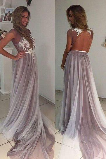 Charming Prom Dress,Backless Prom Dresses,Sexy Evening Dress,Long Evening Dresses,Lace Prom Party Dress