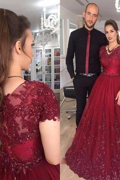 Custom V-NECK Tulle Ball Gown Prom Dresses, Ball Gown Prom Dresses, Ball Gown Evening Dresses ,Ball Gown Prom Dress