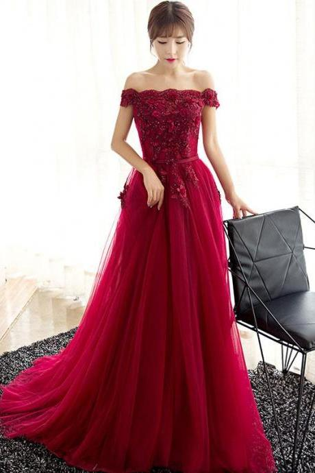 Alluring Tulle & Stretch Satin Jewel Neckline Two-piece A-line Evening Dresses With Lace Appliques