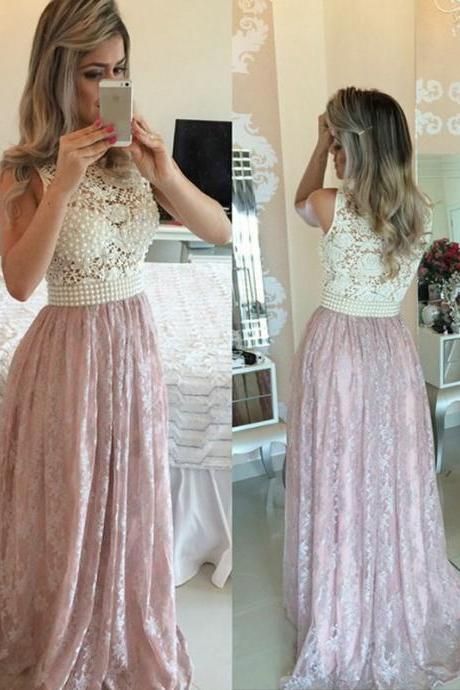 Elegant High Neck A Line Prom Dresses 2016 Off The Shoulder Custom Beads Zipper Sweep Train Evening Gowns