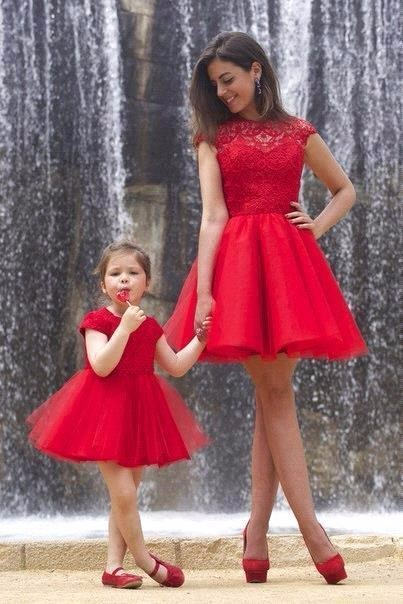 2016 new arrival flower girl dresses holy communion dresses mini red lace tulle girls pageant dress kids prom dresses