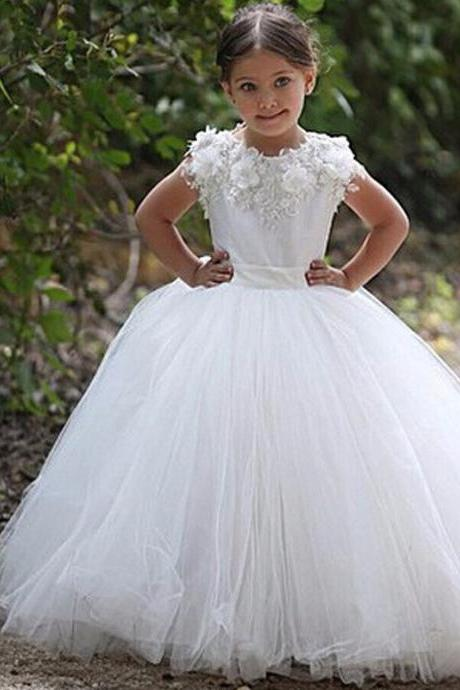 2016 high quality lace flower girl dresses for weddings pageant dresses for girls ivory holy communion dresses