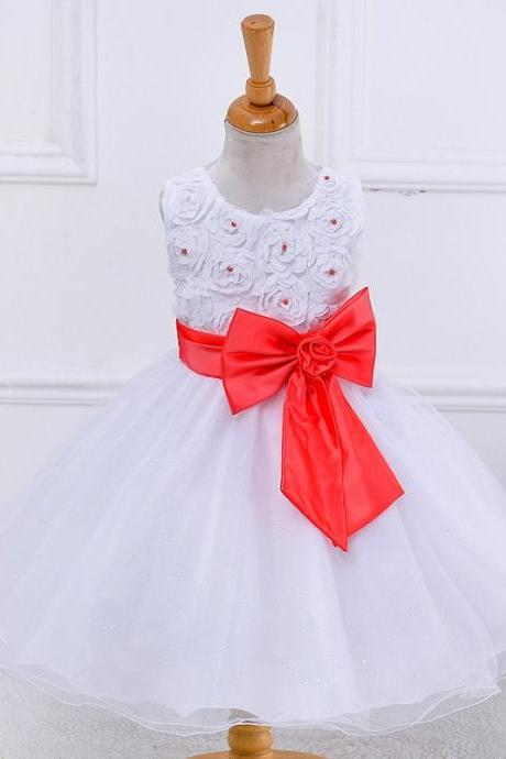 Formal Lace Princess Cheap Flower Girl Dresses For Bridesmaid Wedding Easter Party Infant Toddler Baby Christening Pageant dress