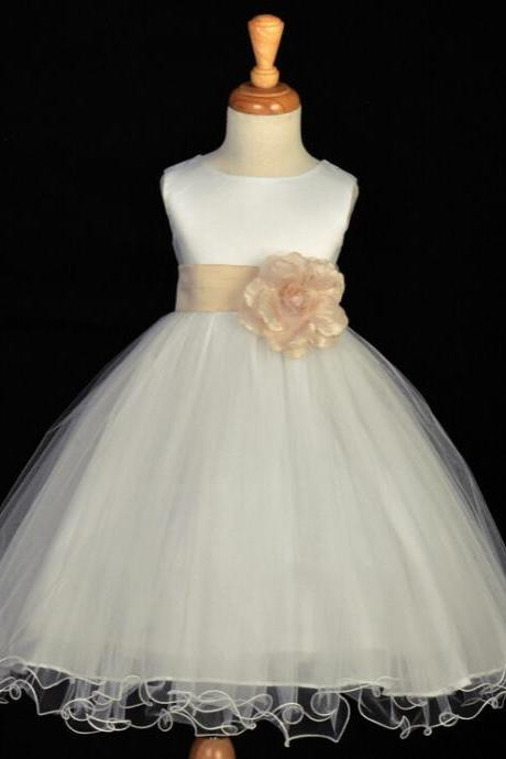 2016 New Flower Girl Dresses with Bow Wedding Party Dress Communion Gown Pageant Dress for Little Girls Kids/Children Dress2016 Flower Girl Dresses Baby/Children/Kids Girl's Pageant Evening/Prom/Ball Dress/Gown f…2016 New Real Flower Girl Dresses Princess Wedding Party Pageant Communion Dress for Little Girl Kids/Children Dress for Wedding