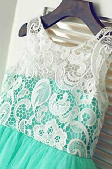 2016 New Flower Girl Dresses with Bow Sleeve Wedding Party Communion Princess Pageant Dress for Little Girls Kids/Children Dress2016 New Real Flower Girl Dresses High Neck V-Back Party Pageant Communion Dress for Wedding Little Girls Kids/Children Dress