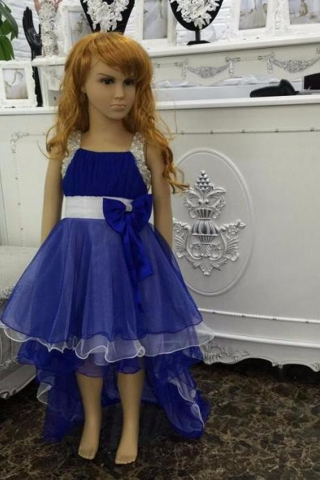 Hot sales Mix Color pageant dresses For Girls 2016 new flower girl dresses with train Vestido Dress size