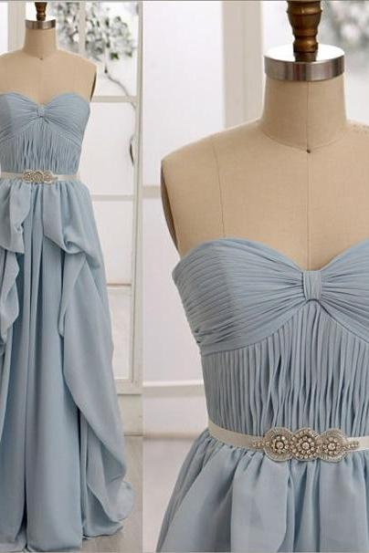 Elegant Chiffon Evening Dress A-Line Evening Dress Sweetheart Evening Dress Long Prom Dress