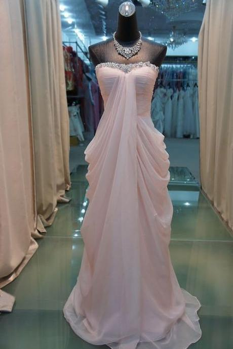 High Quality Prom Dress,Chiffon Prom Dress,A-LineProm Dress,Strapless Prom Dress,Sequined Prom Dress