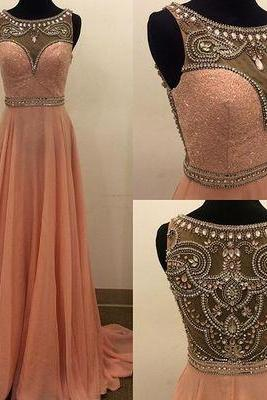 Beading Charming A-Line Prom Dresses,Long Evening Dresses,Prom Dresses On Sale