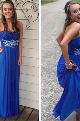 Royal Blue Real Made Prom Dresses,Long Evening Dresses,Prom Dresses