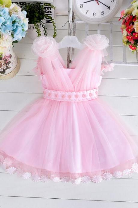 New Fashion Girls Summer Dress Princess Dress Performance Dress Sling Flower Girl Dress Skirt Children
