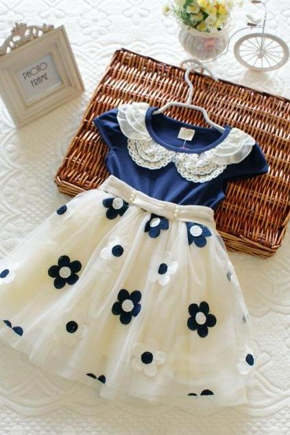 2016 new Organza dress female children of princess dress children Girls lace dress children F-0005