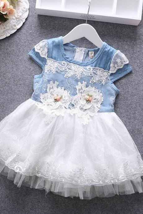 2016 Summer Children's Clothing Girls Children's Clothing Girls Dress Summer New Female Baby Sleeveless Net Yarn Princess Dress F-0015