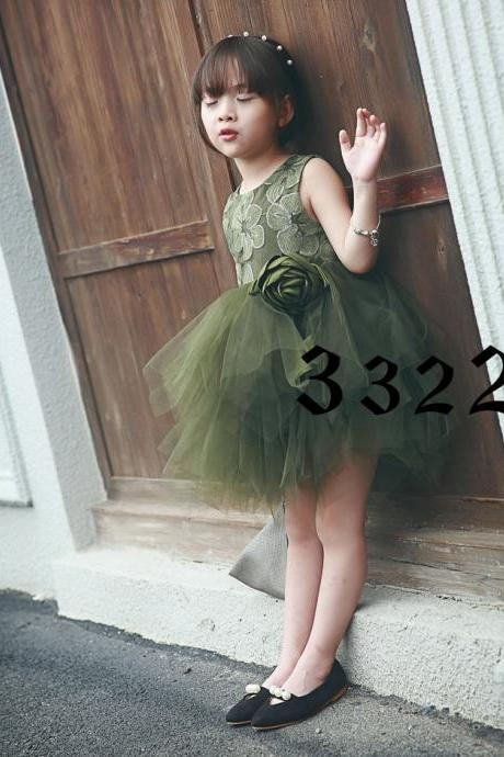 2016 Autumn New Models Girls Dress Sleeveless Vest Skirt Children in Child Gauze Tutu Skirt Princess F-0017