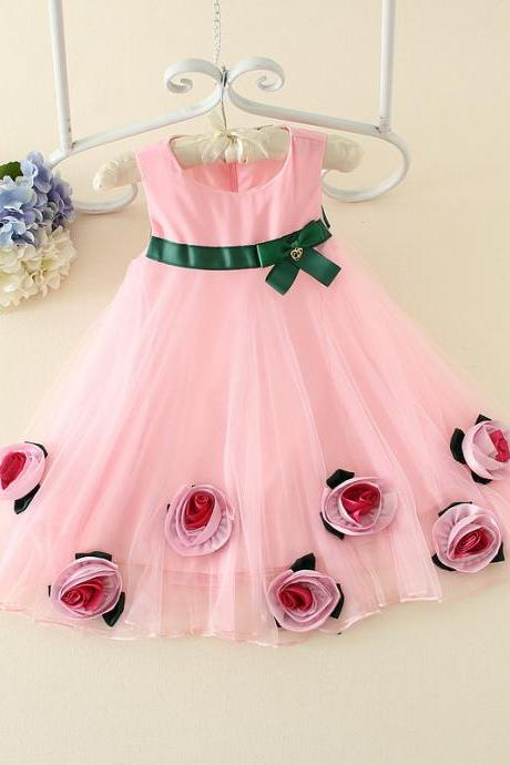 Fresh 2016 Summer New Girls Skirt Children Cute Princess Dress Children Dress Wedding Dress F-0051