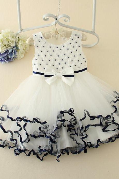 2016 New Spring And Summer Children's Clothing Korean Lace Pleated Skirt Big Princess Dress Puff F-0052