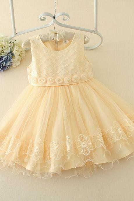 2016 Spring New Lace Soft Gauze Tutu Princess Dress Children In Children's Wear Pleated Dress F-0053