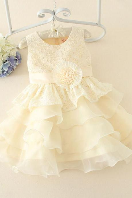 Girls Dress Embroidered Vest Dress New Spring Girls Princess Dress F-0057