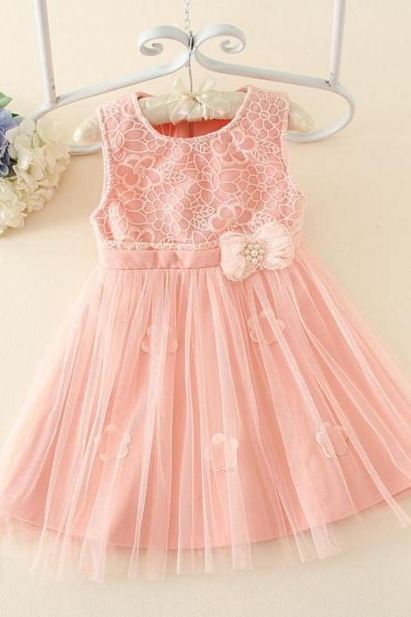 2016 Children's Clothing Princess Dress Children Cress Girls Sleeveless Dress Beaded Dress Children Tutu F-0065