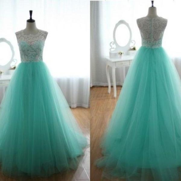 2016 New Fashion Hot Sale See Through Lace White And Blue Prom Dresses Illusion Back Sexy Evening Party Gown