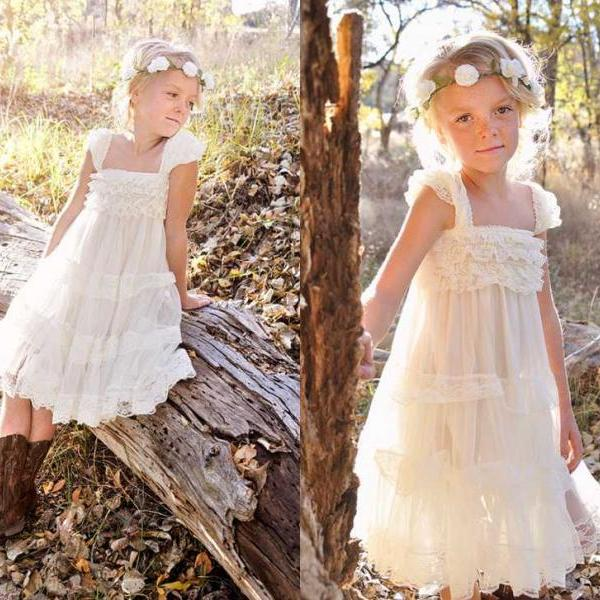 14e952b27563 Flower Girl Dress Little Baby Girl Baptism Dress Tulle TuTu Infant ...