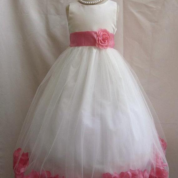 4d38e8377 2015 Flower Girl Dresses with Guava Rose Petal Dress Wedding Easter  Bridesmaid For Baby Children Toddler ...