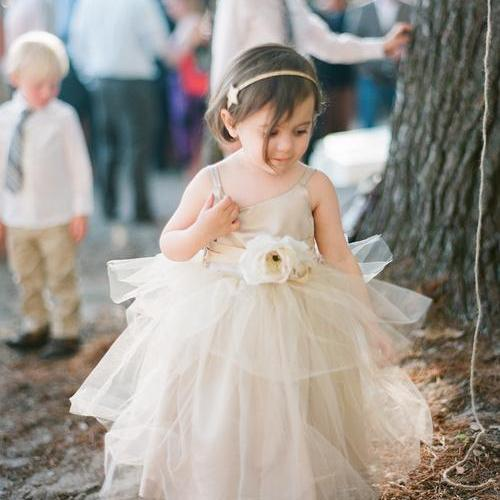 dcc894351828 2015 Rustic Ivory Flower Girls Dress Forest Girl Dress Wedding ...