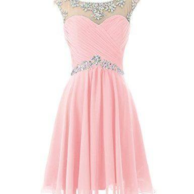 Charming Homecoming Dress,Beading Homecoming Dress,Chiffon Homecoming Dress, Cute Short Prom Dress